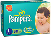 Pampers IMax Large Diapers - 38 Pieces