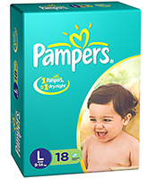 Pampers IMax Diapers Large - 18 Pieces