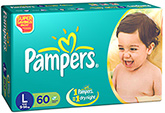 Pampers Diaper Large - 60 Pieces