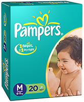 Pampers Diapers Medium - 20 Pieces