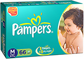 Pampers Diaper Medium - 66 Pieces