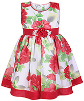 Buy Babyhug Sleeveless Frock Red - Floral Print