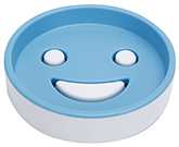 Buy Fab N Funky Circular Design Soap Dish- Aqua Blue