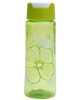 Buy Fab N Funky Flowers Print Water Bottle- Green