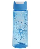 Buy Fab N Funky Flowers Print Water Bottle- Blue
