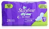 Women's Hygiene - Stayfree Dry Max All Night � Ultra Thin