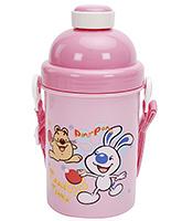 Buy Fab N Funky Table Tennis Print Water Bottle- Pink