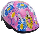 Fab N Funky Pink Helmet with Strap - Flowers Print