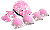 Fab N Funky Heart And Flower Print Protective Gear Set - Pink