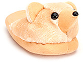 Buy IR Plush Slippers With Teddy Face - Orange