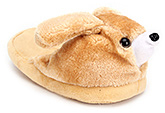 Buy IR Plush Slippers With Puppy Face - Brown