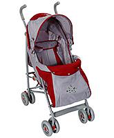 Buy Fab N Funky Baby Stroller Flower Print - Red And Grey