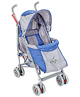 Fab N Funky Baby Stroller Flower Print - Blue And Grey