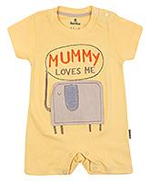 Child World Short Sleeves Romper Yellow - Mummy Loves Print