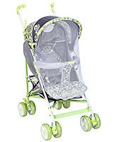 Buy Fab N Funky Stroller Green And Grey - Polka Dots Print