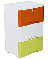 Fab N Funky Cabinet - Orange Green And White