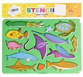 Buy Fab N Funky Fish Stencils - Green