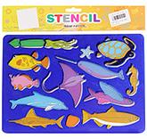 Buy Fab N Funky Fish Stencils - Blue
