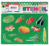 Buy Fab N Funky Vegetable Stencil - Green