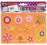 Buy Fab N Funky Flower Design Stencil - Peach
