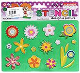 Buy Fab N Funky Flower Design Stencil - Green