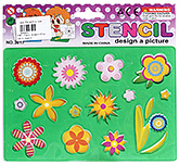 Buy Fab N Funky Flower Design Stencil - Light Green