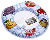 Buy Fab N Funky Cushion Potty Seat Blue - Fruit Print