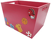 Kidoz Sports Toy Container - Red