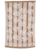 Buy Sassoon Baby Bath Towel Flower Twist Brown