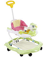 Fab N Funky Duck Face Musical Baby Walker - Green