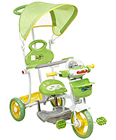 Buy Fab N Funky Musical Tricycle with Canopy and Push Handle - Green