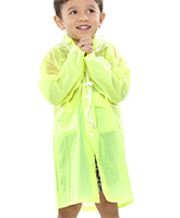 Buy Babyhug Plain Raincoat With Hood - Green