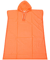 Buy Babyhug Poncho Style Raincoat With Hood - Orange
