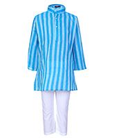 Buy Bhartiya Paridhan Full Sleeves Kurta Pyjama - Blue and White