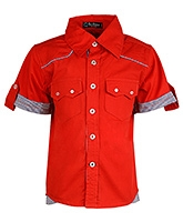 Buy Cool Quotient Half Sleeves Shirt Red