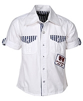 Buy Cool Quotient Half Sleeves Shirt White - Flap Pockets