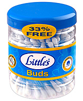 Littles Double Swab Cotton Stems - 75 Plus 25 Stems