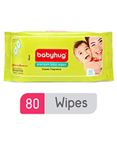 Baby Wipes - Babyhug Premium Baby Wipes - 80 Pieces