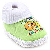 Little's Fancy Baby Bootie - Green And White
