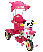 Buy Fab N Funky Tricycle with Panda Face and Canopy - Red