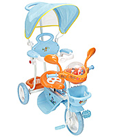 Buy Fab N Funky Tricycle with Canopy and Push Handle - Blue