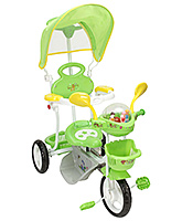Buy Fab N Funky Tricycle with Canopy and Push Handle - Green