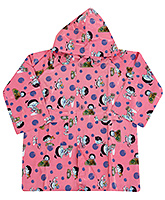 Buy Babyhug Printed Hooded Raincoat - Light Pink