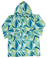 Buy Babyhug Printed Hooded Raincoat - Blue And Green