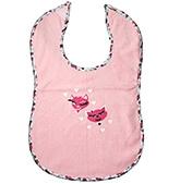 Buy Buzzy Cotton Baby Bib Heart Print - Light Pink