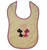 Buy Buzzy Cotton Baby Bib Heart Print - Yellow