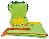 Buy Trunki SnooziHedz Travel Pillow and Blanket Dudley The Dino - Green