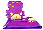Buy Trunki SnooziHedz Travel Pillow and Blanket Ollie the Owl - Purple