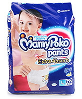 Mamy Poko Pants Pant Style Diapers Large - 52 Pieces