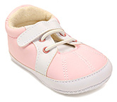 Buy Cute Walk Baby Booties with Lace Up - Pink and White